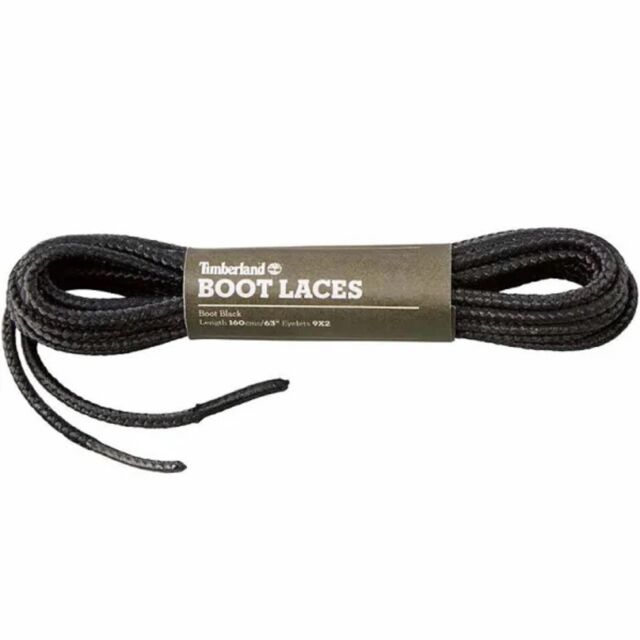 {A1FOV} Timberland 63 INCH REPLACEMENT BOOT LACES Black *NEW*