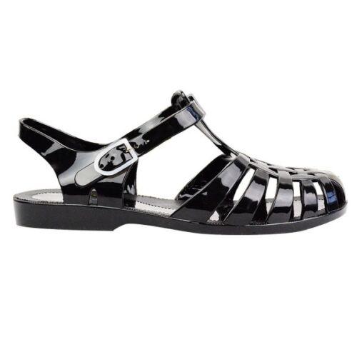 Ladies Women Jelly Flat Ankle Heel Strap Flip Flop Sandals Shoes Summer Toe Post