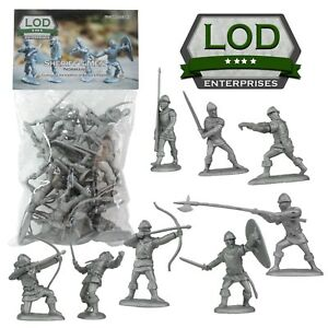 BARZSO-LOD-Sheriff-of-Nottingham-Knights-60MM-16-Plastic-Toy-Soldiers-FREE-SHIP