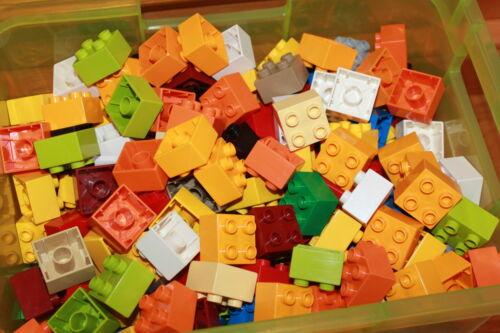 LEGO Bau- & Konstruktionsspielzeug Lego Duplo 50 Bausteine 4er Baustein bunt gemischt 2x2 Stein farbig