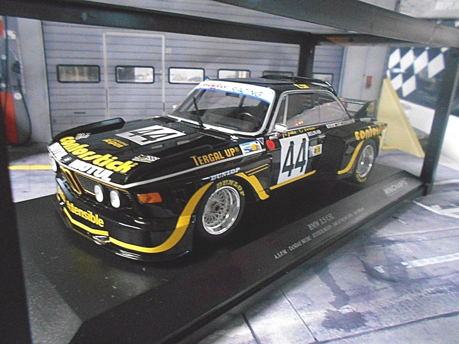 BMW 3.5 CSL Le uomos 1976  44 Teay Music RACING Justice nelin Minichamps 1 18