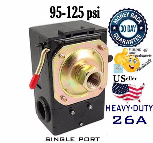 Pressure Switch for Air Compressor 95-125psi SINGLE PORT 26A //unloader LEFOO H//D