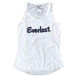 EVERLAST-canotta-da-donna-canottiera-taglia-L-top-cotone-stretch-t-shirt-stelle