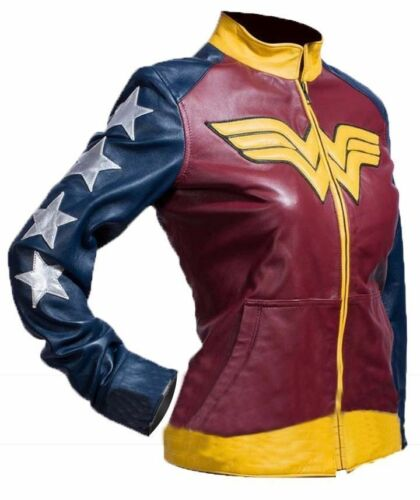 Palicki dames veste Adrianne pour en Woman élégante cuir Costume Wonder qTEUZCnwx