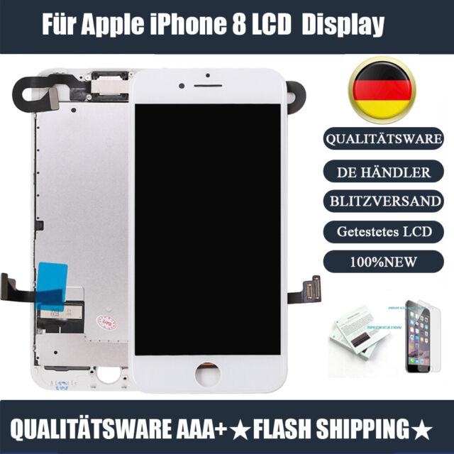 Ersatz LCD IPHONE 8 DISPLAY Weiß KOMPLETT VORMONTIERT Retina Bildschirm White