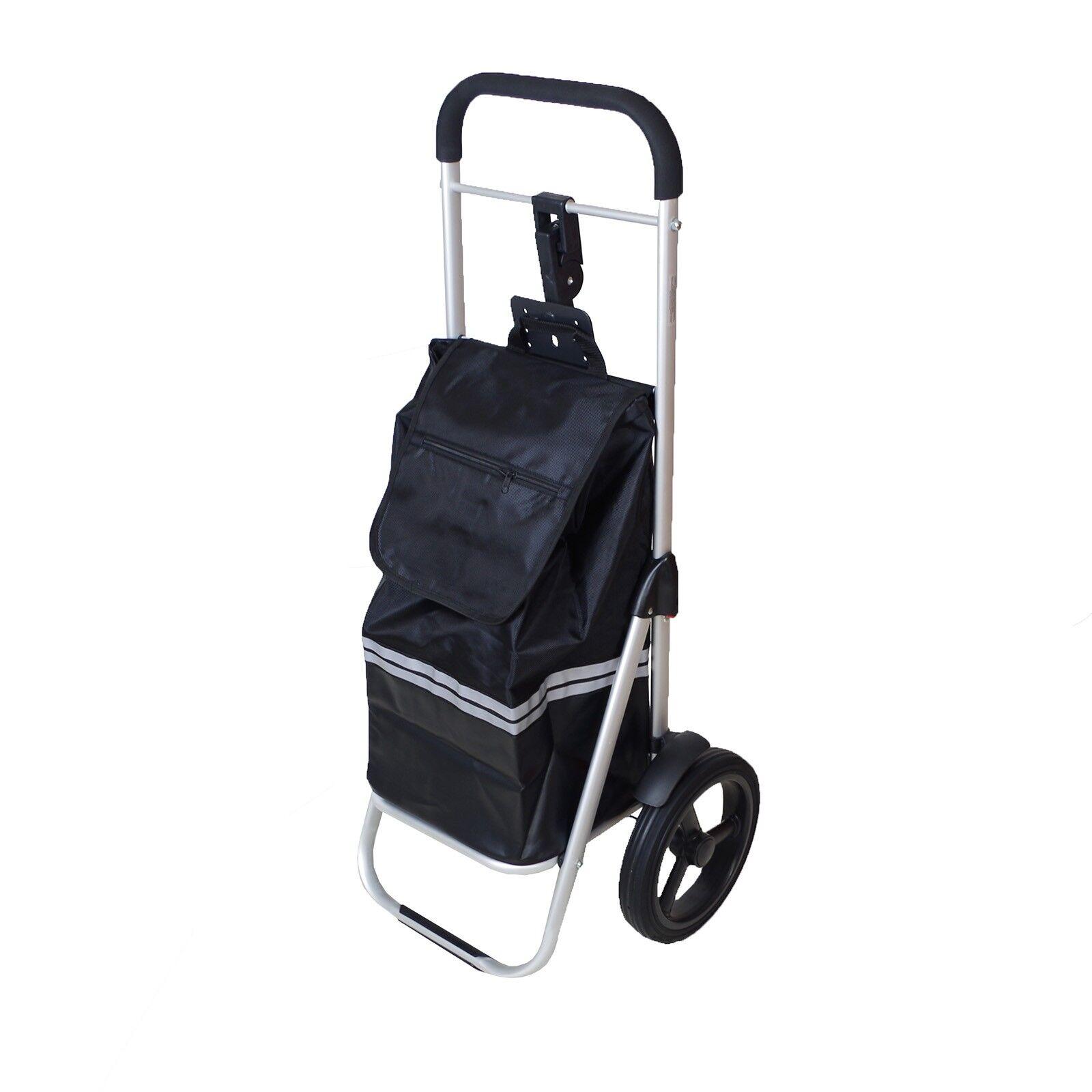 Fahrrad Anhänger Fahrrad Einkaufstrolley Fahrrad Anhänger mit Kupplung schwarz Anhänger Polyester 5d1c5f