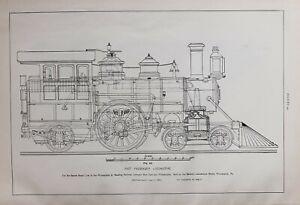 1886-RAILWAY-LOCOMOTIVE-PRINT-FAST-PASSENGER-LOCOMOTIVE-PHILADELPHIA-amp-READING