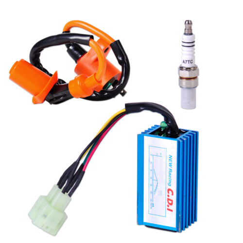 Fit for GY6 50cc 150cc Scooter Performance Ignition Coil Spark Plug+Wire CDI