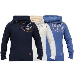 Mens-Hooded-Sweatshirt-By-Crosshatch-Fleece-Lined