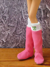 Model Muse JUICY COUTURE Pink Ultra Suede SLOUCH BOOTS Accessory