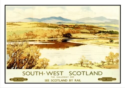 The Galloway Dee Railway Vintage Retro Oldschool Old Good Price Poster