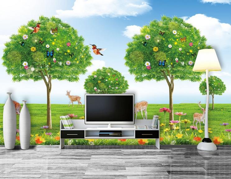 3D Landschaftsbaum 677 Tapete Tapeten Mauer Foto Familie Tapete Wandgemälde DE