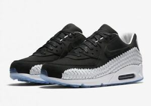 Details about Nike Air Max 90 Premium Woven Black White 833129 003 Men's LIMITED SZ 8 10 DS