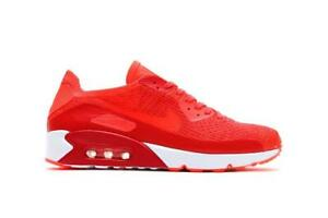 new concept 1f6f0 269ef HOMBRE Nike Air Max 90 Ultra 2.0 Flyknit Zapatos Carmesí 875943 600 ...