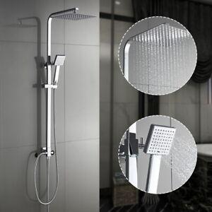 Duschgarnitur-Duschstange-mit-Handbrause-Duscharmatur-Regendusche-Duschset-Bad