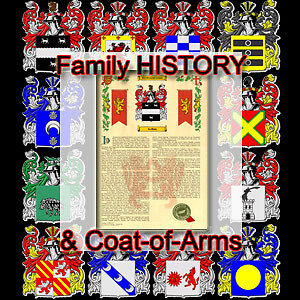 Armorial Name History Family Crest 11x17 AYALA-TO-BERNARD Coat of Arms