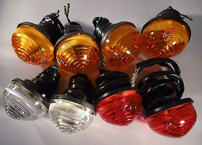 LAND ROVER SERIES 2 and 3 LIGHTS  (FULL SET of 8 LAMPS)