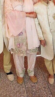 Fiducioso Nuovo Senza Etichetta Asiatico Designer Suit Bin Younas Collection Salwar Kameez Shalwar Taglia Large-mostra Il Titolo Originale