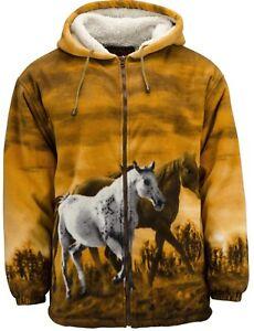 090d8f40fdd1 TrailCrest R'lixlo Horse Lover Gift Print Fleece Jacket Hoodie ...