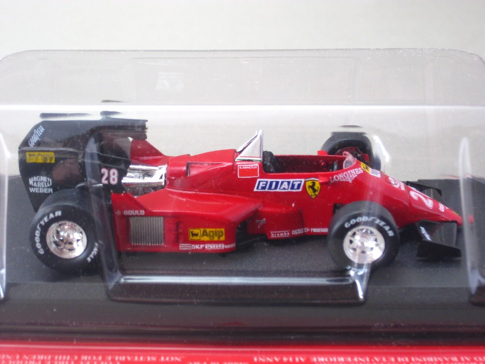 Ferrari 126 C4 Rene Arnoux 1984 Hachette 1 1 1 43 Diecast Modelo Coche Vol.42 72790d