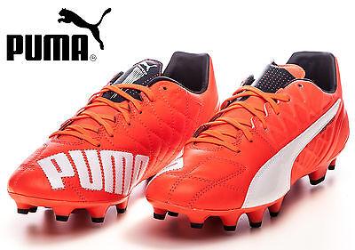 Puma EvoSpeed 1.4 LTH FG Football Soccer Boots Lava Blast / White/ Total  Eclipse | eBay
