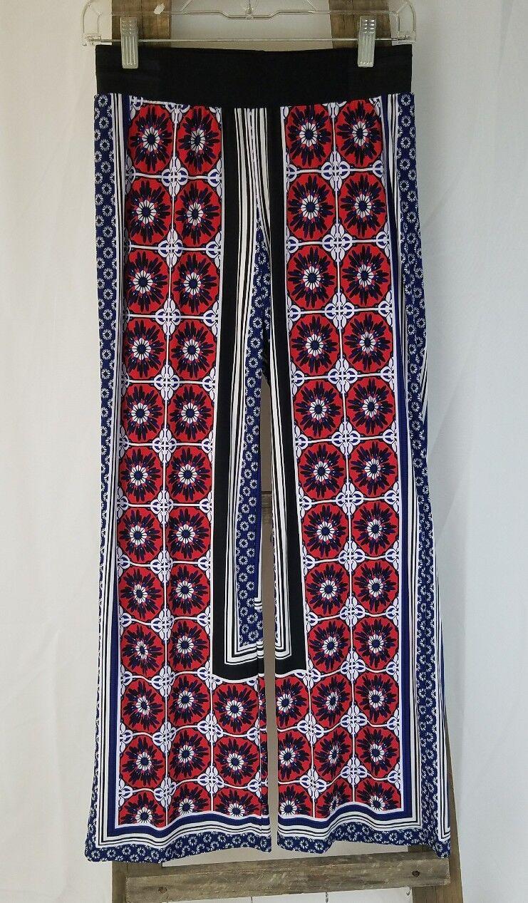 INC International Concepts women P S lounge pants wide leg regular fit floral