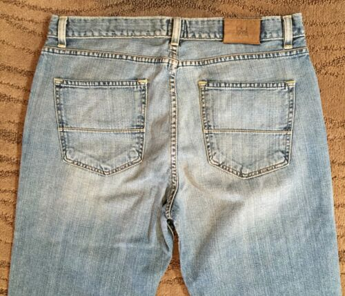 "Mens IKE BEHAR NY /""CAPONI/"" Jeans Sz 36 x 34-Classic-Straight Leg-Light Denim-NWT"