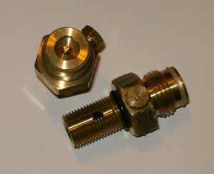 PAINTBALL CO2 TANK BRASS PIN VALVE ONLY KEE ACTION SPORTS, NEW/UNUSED.