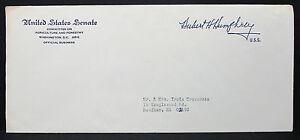 US-Senate-Cover-Hubert-Humphrey-Washington-Official-Business-USA-Letter-H-7166