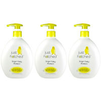 3pc Just Hatched Bright Baby Shampoo Gentle Enough For Newborns 13.5oz 7111