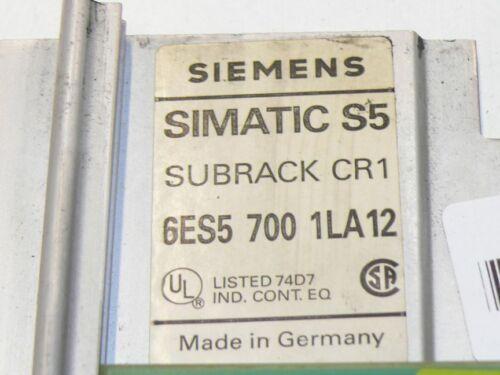 Siemens 6es5700-1la12 subrack cr1 6es5 700-1la12