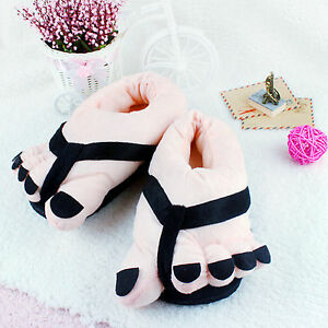 Lovely-Winter-Indoor-Toe-Big-Feet-Warm-Soft-Plush-Slippers-Gift-Adult-Shoes