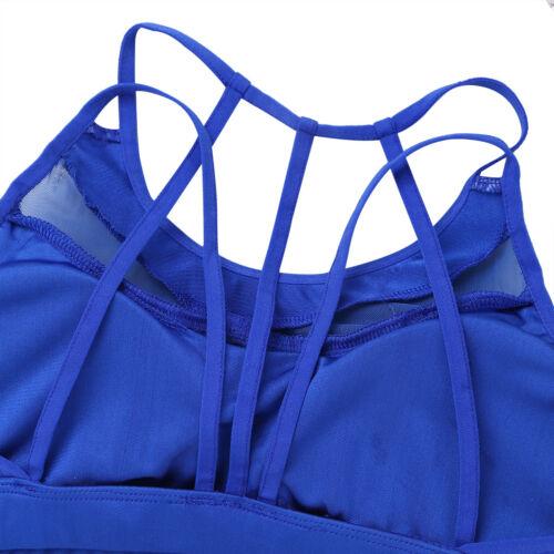 Women Mesh Sport Bra Running Gym Yoga Fitness Tank Top Padded Workout Underwear
