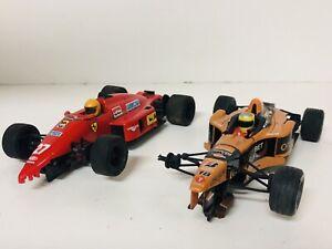 Lote De 2 Coche Scalextric F1 Ferrari Y Arrows De Pedro De La Rosa A Completar