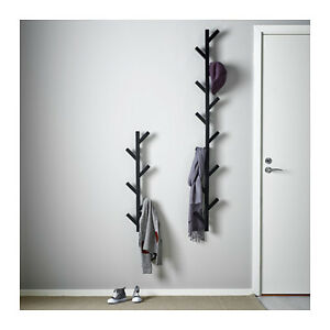 Ikea tjusig wall hanger hat rack coat rack black tree for Ikea coat and hat rack
