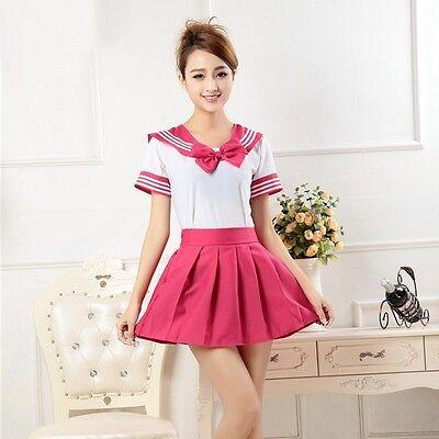 New Fashion Japanese School Uniform Dress Cosplay Costume Anime Girl Lady Lolita