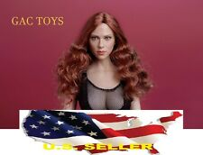 NEW 1/6 Scarlett Johansson 7.0 Black widow Head Long Hair for phicen hot toys