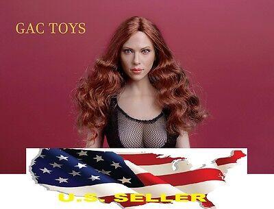 1//6 Scarlett Johansson Black widow Head red Hair for PHICEN GC002A ❶US IN STOCK❶