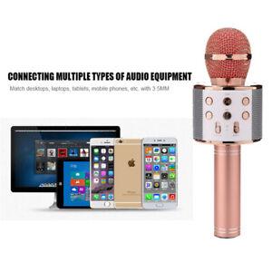 UK-Wireless-Microphone-Handheld-Bluetooth-Speaker-Karaoke-Dynamic-KTV-Player