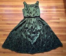 Neca Bella Swan Twilight New Moon Birthday Green/Black Velvet Dress Size S