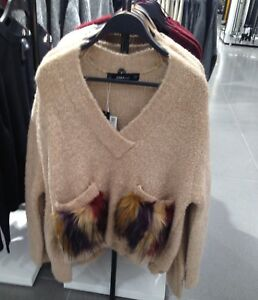 3ce5a6df Image is loading ZARA-SWEATER-WITH-TEXTURED-POCKETS-CAMEL-M-REF-