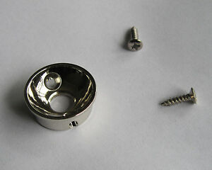 Electric-Guitar-Jack-1-4-034-Electrosocket-Jack-Plate-for-Tele-Telecaster-Nickel