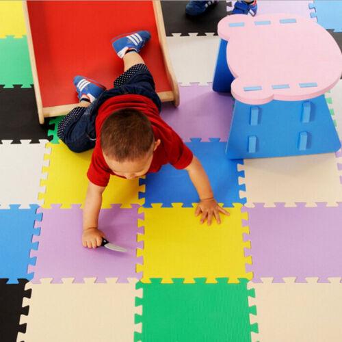 PACK 9 EVA FOAM PLAY MATS KIDS INTERLOCKING SOFT FOAM 29cm FLOOR EXERCISE TILES