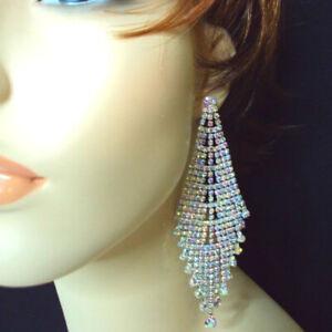 Chandelier Earrings Aurora Borealis Ab