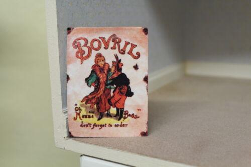 Dolls House segno di metallo per alimenti shop = Estratto di carne