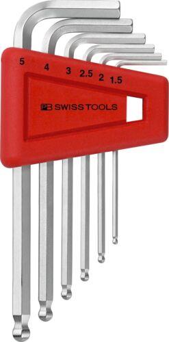 PB 212H-5 1.5-5mm PB Swiss Tools 212.H-5 L-Jeu de clés à porte-Inbus avec boule fin
