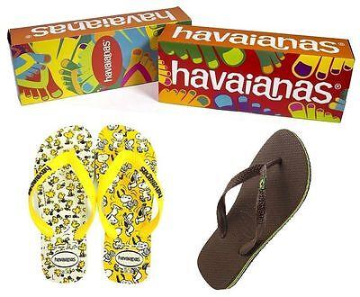 Nuevo Para Hombres Havaianas Brasil Logo Flip Flop Sandalias De Playa Zapatos Original