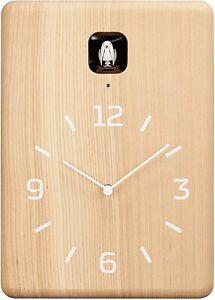 Lemnos CUCU Cuckoo Clock Natural LC10-16 NT Wall Clock From Japan New