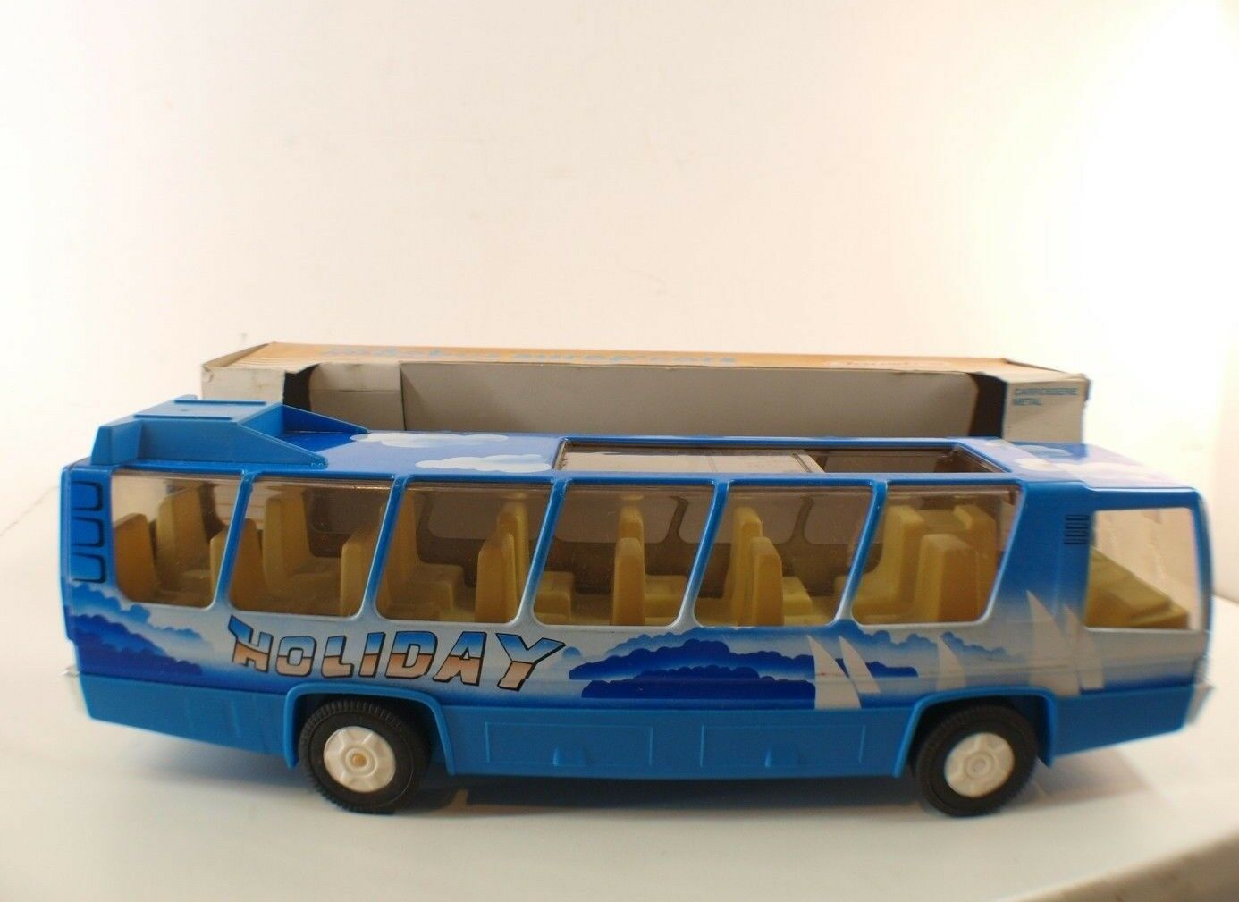 Joustra n° 0473 Autobus Europ'cars Holliday à friction neuf en boîte inbox NMIB