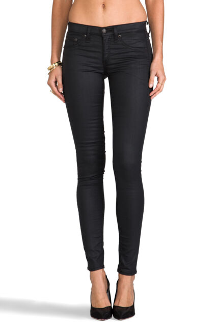 Rag & Bone Super Skinny Shoreditch Black Legging Jean In